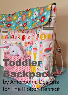 FREE Toddler backpack tutorial from Ameroonie Designs!
