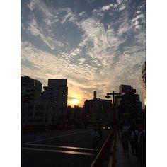 (Made with free #NoCrop app) #sunset #tokyo #asakusa