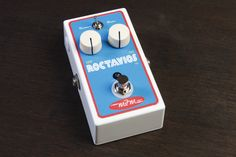 MJM Effects Roctavios Octave Fuzz from Coast Sonic. This unit delivers a dynamic touch responsive octave effect at the lowest setting to midway of the boost knob, fully clockwise its capabilities extend to an all out psychedelic fuzz with excellent sustain capabilities… this type of pedal takes a little more experimenting to incorporate in ones sound but well worth the effort once achieved… a unique sounding unit to say the least! 179$ at coastsonic.com