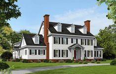 Plan 68413VR: Spacious Colonial With Man Cave