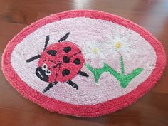 "Vintage CHENILLE Bath Mat Rug Lady Bud or Lady Bird - 30"" x 20"" Very Cute!! by BeautyFromThePast on Etsy https://www.etsy.com/listing/240243736/vintage-chenille-bath-mat-rug-lady-bud"