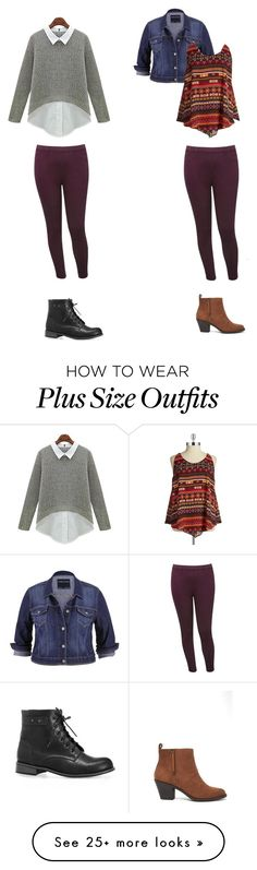 """Same pants-different outfit"" by tangeled10 on Polyvore featuring M&Co, maurices, Harper & Liv, Forever 21, Avenue and plus size clothing"
