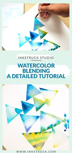 Learn the tips and tricks how to use the simple technique of wet on wet from this detailed watercolor blending tutorial - Inkstruck Studio #watercolorarts