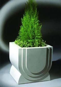 Arc Contemporary Stone Planter