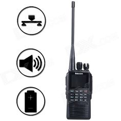 Baiston TD-830/G3 256-CH 5W 400~470MHz Walkie Talkie w/ DPRM Digital Mode, SMS - Black. Type: DPMR Two-way radio Power: 5W/1W Frequency : 400~470MHz Channels : 256-CH Battery : thickened lithium battery Working time: Routine call: >20H Digital communication: >24 H Standby time: 190H Antenna impedance: 50ohm Frequency stability: +/-2.5ppm Working temperature: 25 DEG C ~ +55 Voltage: 7.4V Modulation mode: 16KφF3E/11KφF3E(Analog ) 4FSK(Digital) Adjacent channel power: 60dB @ 12.5KHz Modulation…
