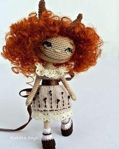 Amigurumi doll by KotiKo toys. (Inspiration).