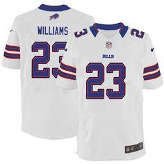 Aaron Williams Jersey Buffalo Bills #23 Men Elite Jersey White Nike NFL Jersey Sale