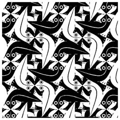 Great Tesolation Created by MC Escher Mc Escher Art, Escher Kunst, Mc Escher Tessellations, Tessellation Art, Tesselations, Math Art, Diego Rivera, Illusion Art, Wow Art
