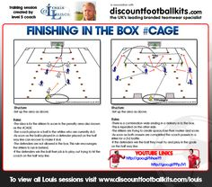 Finishing In The Box #soccer #football #trainingdrills #coaching http://www.discountfootballkits.com/blog/finishing-in-the-box-cage/
