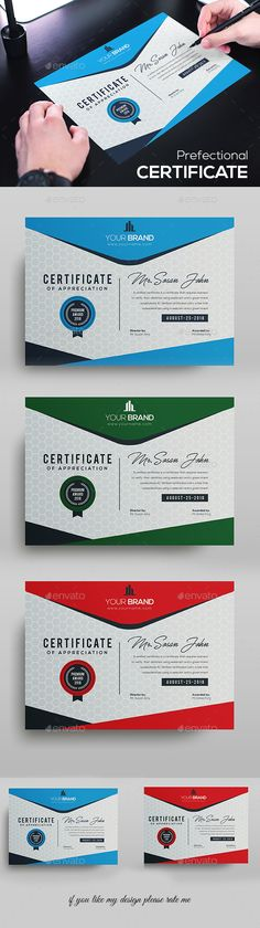 Buy Certificate by DUrgaDesigns on GraphicRiver. Certificate Template Fully Clean Certificate Paper Size With BleedsQuick and easy to customize templatesAny Size. Stationery Templates, Stationery Design, Print Templates, Type Design, Print Design, Graphic Design, A4 Paper, Paper Size, Certificate Design Template