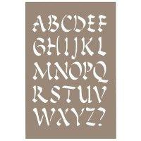 Pochoir lettre - Alphabet chinois 15x20cm - Artemio