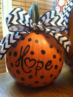 Personalized pumpkin for Fall decor