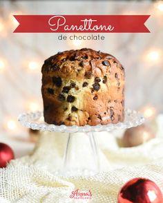 Receta de Panettone con prefermento, una receta preciosa y divina de Annas Pastelería para Navidad!! - Chocolate Panettone recipe from www.annaspasteleria.com