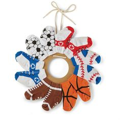 Sports Sock Wreath | Baby | Mud Pie