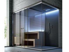 ETHOS Sauna with shower by HAFRO design Franco Bertoli