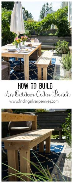 How to Build an Outdoor Cedar Bench