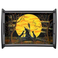 "Halloween serving tray ""Patience,Halloween Nears"""