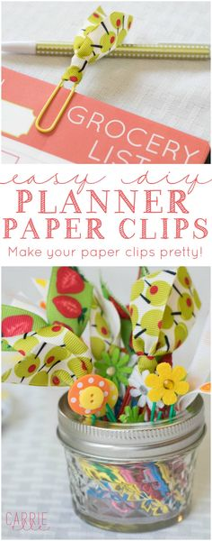 DIY Planner Paper Clips - these are easy to make and SO handy! They're also perfect for a DIY gift.