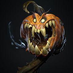 Creepy Pumpkin, Alexandre Normand on ArtStation at https://www.artstation.com/artwork/gxVNL