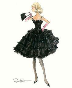 "Barbie Robert Best Print ""Black Enchantment"""