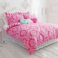 Wake Up Frankie™ Damsel in Damask Reversible Comforter and Sham Set - BedBathandBeyond.com$129-$179