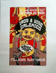 Original silkscreen concert poster for Iron