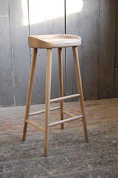 Oak Bar Stool - Eastburn Country Furniture, Notonthehighstreet (£150)
