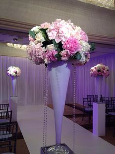 Large modern pedestal arrangements.