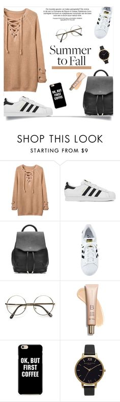 """""""Summer to Fall"""" by fashion-bea-16 ❤ liked on Polyvore featuring adidas, rag & bone, Olivia Burton and layers"""