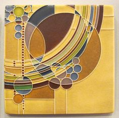 Motawi Tileworks -- They're ALL beautiful. Another cool tile, this one is inspired by Frank Lloyd Wright.