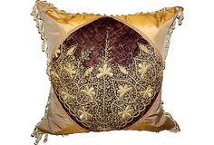Metallic Embroidered Textile Pillow on OneKingsLane.com