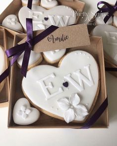 Browse through the different cakes we create here at The Pretty Sugar Cake Company, from Wedding Cakes & Wedding Favours to Celebration Cakes, to Cupcakes & Cookies. Diy Wedding Cupcakes, Wedding Cake Cookies, Wedding Desserts, Monogram Cookies, Monogram Cake, Fondant Cookies, Cupcake Cookies, Sugar Cookies, Biscuit Wedding Favours
