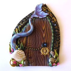 Mermaid Tail Fairy Door Miniature Door Fantasy Pixie by Claybykim