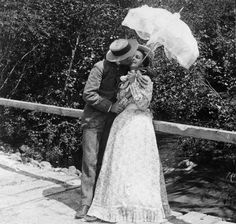 Vintage summer photo of a girl and her sweetheart.