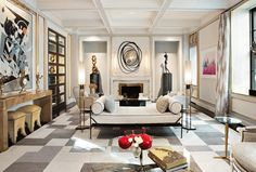 This glamourous three-bedroom maisonette on Fifth Avenue overlooks bustling East 72nd Street is for sale at £4.2 million