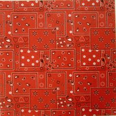 Red Bandana Scrapbook Paper