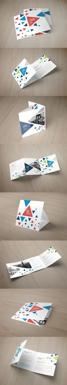 Square Cool Triangles Trifold. Download here: http://graphicriver.net/item/square-cool-triangles-trifold/12090092?ref=abradesign #trifold #pattern #layout #brochure #design