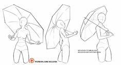 Este tipo de bases me ayuda para darme una idea de colo dibujar poses con el paraguas para el web comic que estoy trabajando