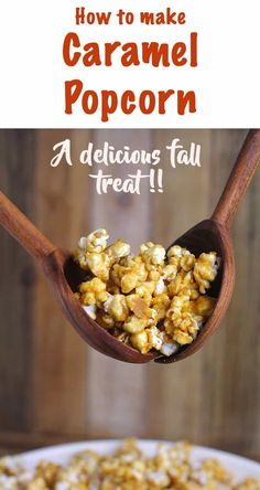 Today I'm so excited to share how to make Caramel Popcorn. With just a few simple ingredients, you can take your regular popcorn to a whole new level. Baking it in the oven makes it nice and crunchy, and leaves the house smelling like heaven! | suebeehomemaker.com | #howtomakecaramelpopcorn #popcorn #fallsnack Fall Recipes, Great Recipes, Snack Recipes, Healthy Granola Bars, Healthy Snacks, Easy Homemade Snacks, How To Make Caramel, Recipes With Few Ingredients, Fall Snacks