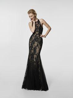 Foto vestido de fiesta negro (62060)