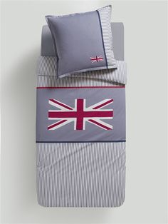 Bettbezug 'Union Jack' GRAU