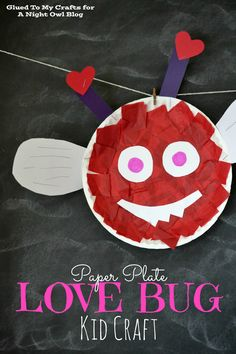 This kid-friendly tutorial is fun for all ages. With just some red tissue paper, a paper plate, and a ton of glue, your kiddos can easily pull this Love Bug craft together in no time!