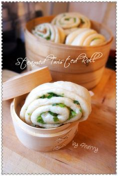 green onion mantou (steamed bun) #Taiwan 蔥花饅頭