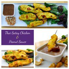 Thai Satay Chicken & Peanut Sauce.