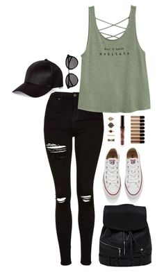 Sin título #459 by viridiana-pulido on Polyvore featuring polyvore fashion style Topshop Converse Forever 21 River Island Yves Saint Laurent clothing Summer