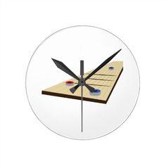 Shuffle Board Round Clock