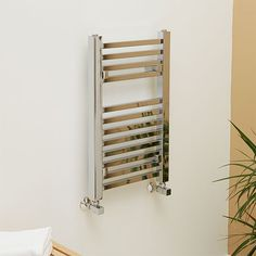 650 x 400 Beta Heat Square Chrome Heated Towel Rail  - Stainless Steel Bathroom Radiators - Better Bathrooms