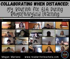 Collaborating when Distanced: My Routine for ELA During Remote/Hybrid Learning School Plan, School Ideas, 6th Grade Reading, Middle School Teachers, Grammar And Vocabulary, Reading Groups, Writing Workshop, Teaching Resources, Teaching Ideas