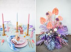 We're loving the feminine + whimsical wedding inspiration in today's editorial with pops of iridescent details and rainbow pastel colors! Floral Wedding, Wedding Colors, Wedding Flowers, Boho Wedding, Wedding Trends, Wedding Designs, Whimsical Wedding Inspiration, Rainbow Pastel, Wedding Decorations