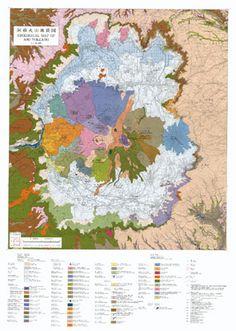 Great maps of volcano. Originally seen on Pruned (http://pruned.blogspot.com/2011/07/geological-maps-of-volcanoes.html)
